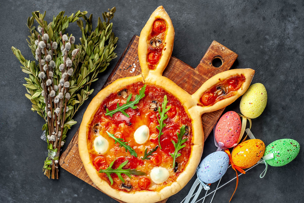 Osterhase Pizza