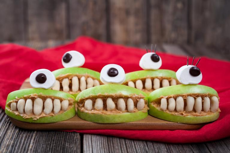 Apfel Monster als Party Snack