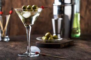 Martini Cocktail mit Vodka und Wermut